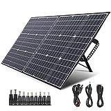 SWAREY Panel Solar Monocristalino 100W 18V DC/USB/QC3.0/Tipo-C PD 60W/MC4 ETFE...