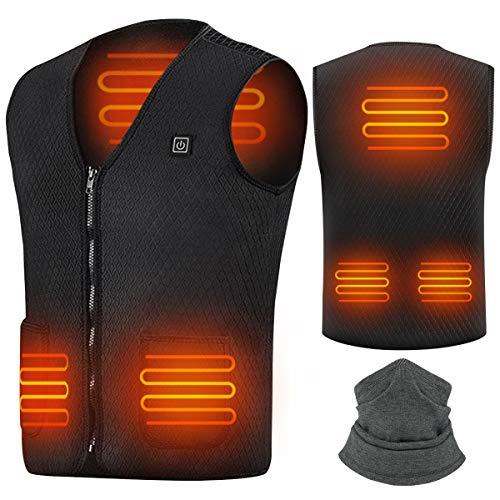 Suxman Chaleco calefactable USB, Chaleco calefactable para Hombres y Mujeres, Temperatura...