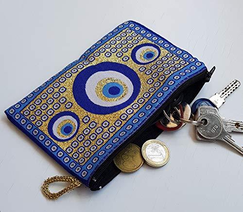 MYSTIC JEWELS - Monedero para Tarjetas, Llaves - diseño de Alfombra - Turco Traditional...