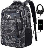 Mochila para ordenador portátil, mochila escolar con puerto de carga USB, bolsa de viaje...