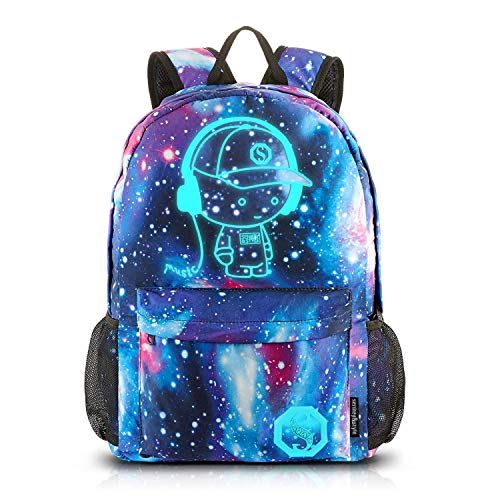 Dracarys Anime Galaxy Mochila Luminosa - Mochila Escolar con Puerto de Carga USB - Daypack...