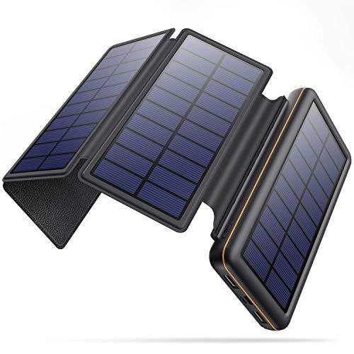 SWEYE Cargador Solar Móvil 26800mAh,【4 Paneles Solares Desmontable/Type-C Carga...