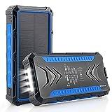 DJROLL Cargador Solar Portátil con 36000mAh, Banco de energía Solar, Solar...