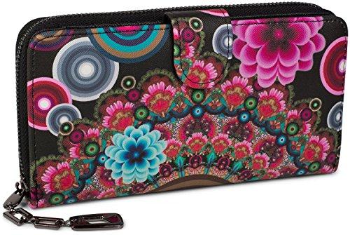 styleBREAKER Monedero con Motivo de Flores étnicas y floración, diseño Vintage,...