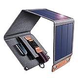 CHOETECH Cargador Solar, 14W Panel Solar Cargador Portátil Ligero Impermeable Placa Solar...