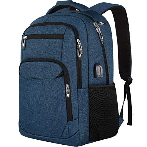 Mochila para ordenador portátil, bolsa escolar con puerto de carga USB, bolsa de viaje de...