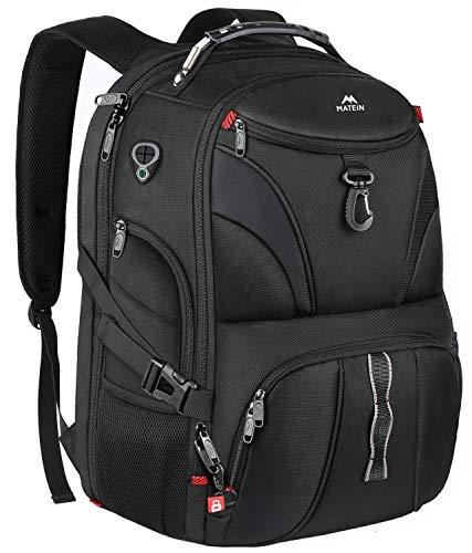 MATEIN Mochila portátil 17.3 Pulgadas de Viaje, Mochilas antirrobo con USB Negocios,...