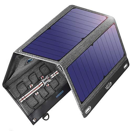 VITCOCO Cargador Solar Portátil, 29W Portatil Cargador Solar Panel Placa Plegable...
