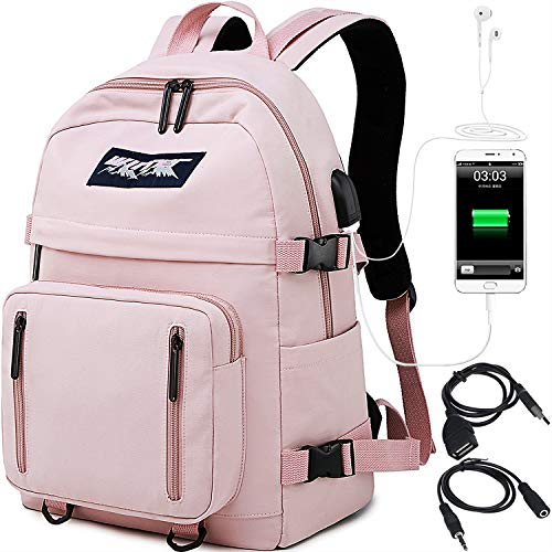 HASAGEI Mochila Escolares Juveniles para 15.6'' Portátil Mochila Unisex de Carga USB Backpack...