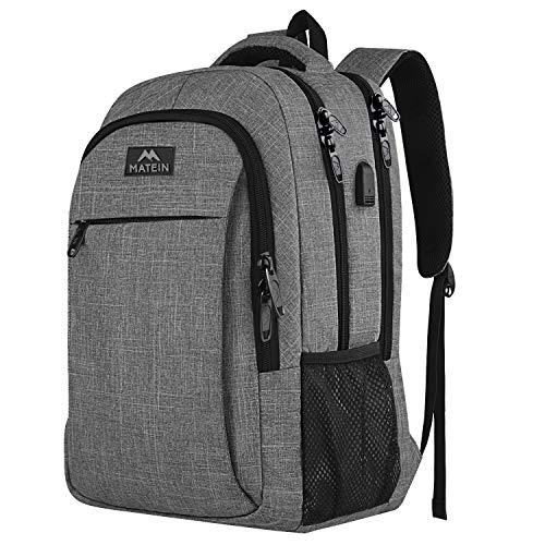 Mochila de viaje portátil, mochila profesional de negocios con puerto de carga USB,...