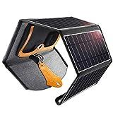 CHOETECH Cargador Solar, 22W Panel Solar Cargador Portátil Impermeable Placa Solar Power...