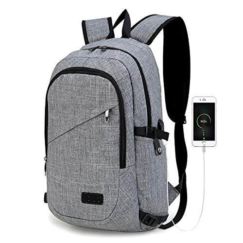 Kono Mochila Portatil para Hombre con Puerto de Carga Externa USB para Macbook y Netbook...