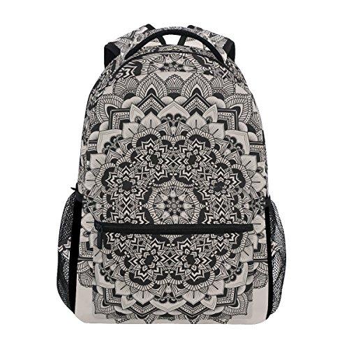 TIZORAX Mochila étnica hippie Mandala mochila mochila escolar bolsa de senderismo mochila de viaje