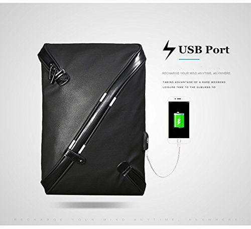 Bolso Cruzado para Hombre Bandolera con【Carga USB